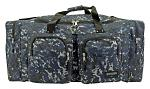 Camping Duffle Bag Large - Blue Digital Camo