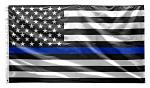 3' x 5' Thin Blue Line American Flag (Police)