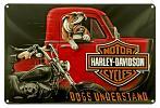 Harley Davidson Dogs Understand Tin Sign