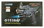 G153BAF Spring Powered Airsoft Handgun - Black