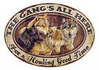 Gang's All Here Oval Tin Sign