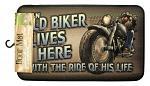 Old Biker Lives Here Door Mat