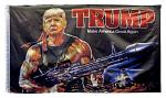 3' x 5' Trump Rambo Flag - Make America Great Again