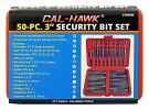50 - pc. 3 in Security Bit Set - Cal-Hawk