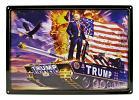 President Trump on American Tank Tin Metal Sign
