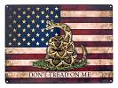 Don't Tread on Me Metal Tin Sign