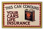 Shell Motor Oil Your Car's Life Insurance Metal Tin Sign