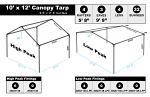 10 x 12 Heavy Duty Canopy Tarp - White