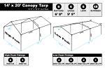 14 x 20 Heavy Duty Canopy Tarp - Silver