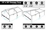 15 x 20 Heavy Duty Canopy Tarp - White