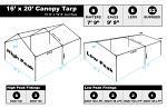 16 x 20 Heavy Duty Canopy Tarp - White
