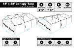 18 x 24 Heavy Duty Canopy Tarp - White