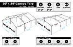 20 x 24 Heavy Duty Canopy Tarp - Silver