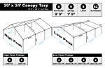 20 x 24 Heavy Duty Canopy Tarp - White