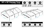 24 x 30 Heavy Duty Canopy Tarp - Silver