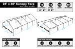24 x 40 Heavy Duty Canopy Tarp - White