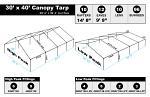 30 x 40 Heavy Duty Canopy Tarp - White