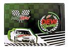 Mountain Mtn. Dew Racing Race Car Tin Metal Sign