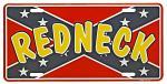 Redneck Tin License Plate