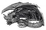 Somasaurus Sleeping Dragon Figure