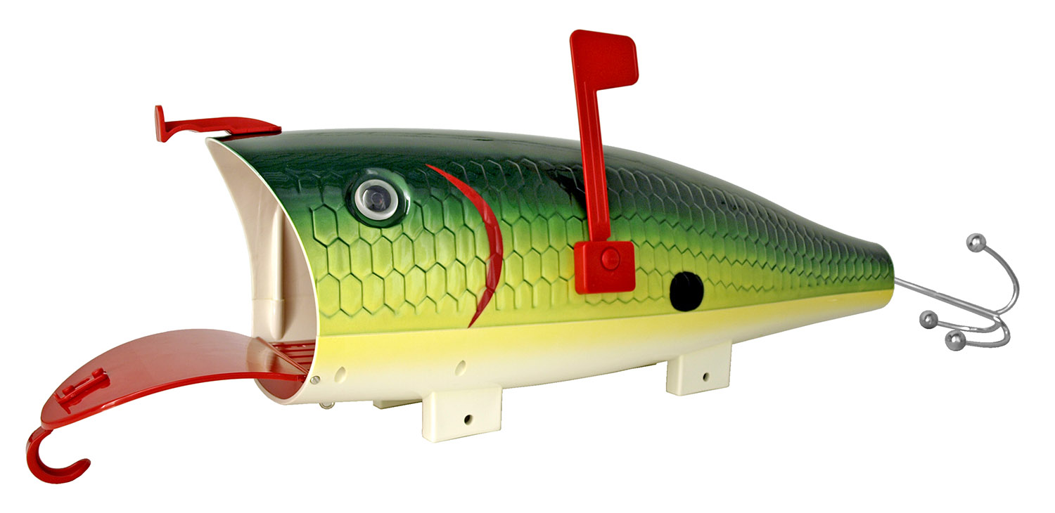 Green Shad Fishing Lure Mailbox
