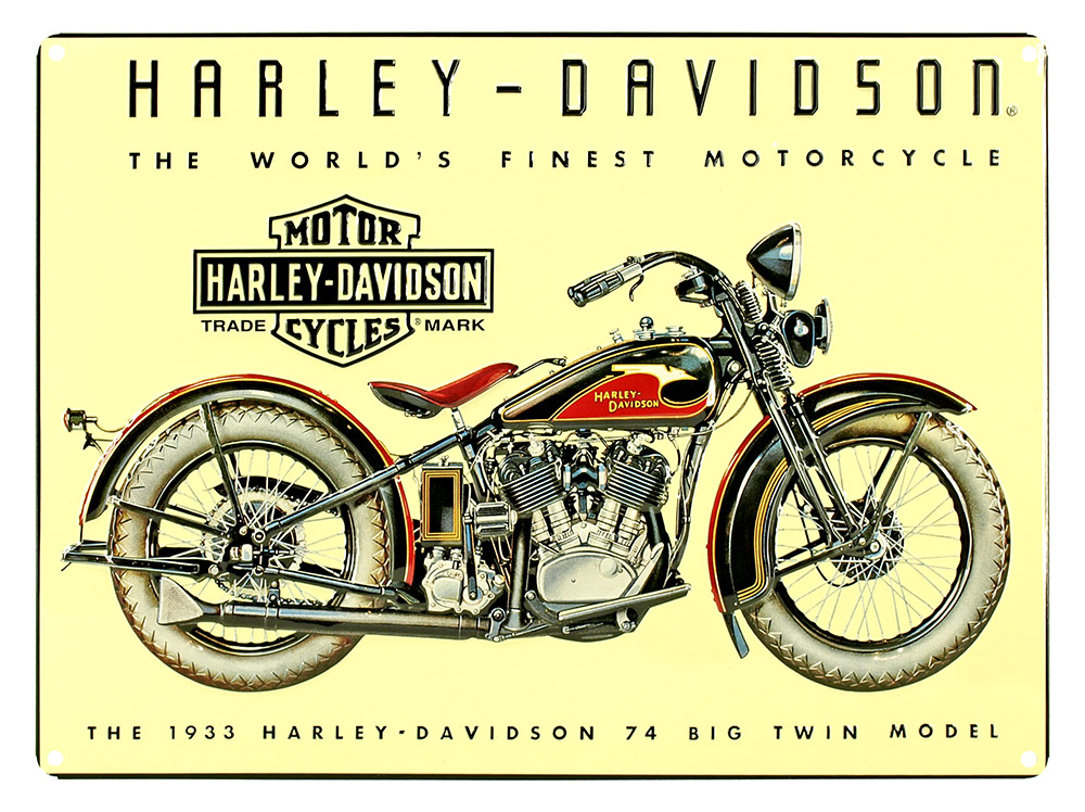 Harley Davidson 1933 Big Twin Tin Sign