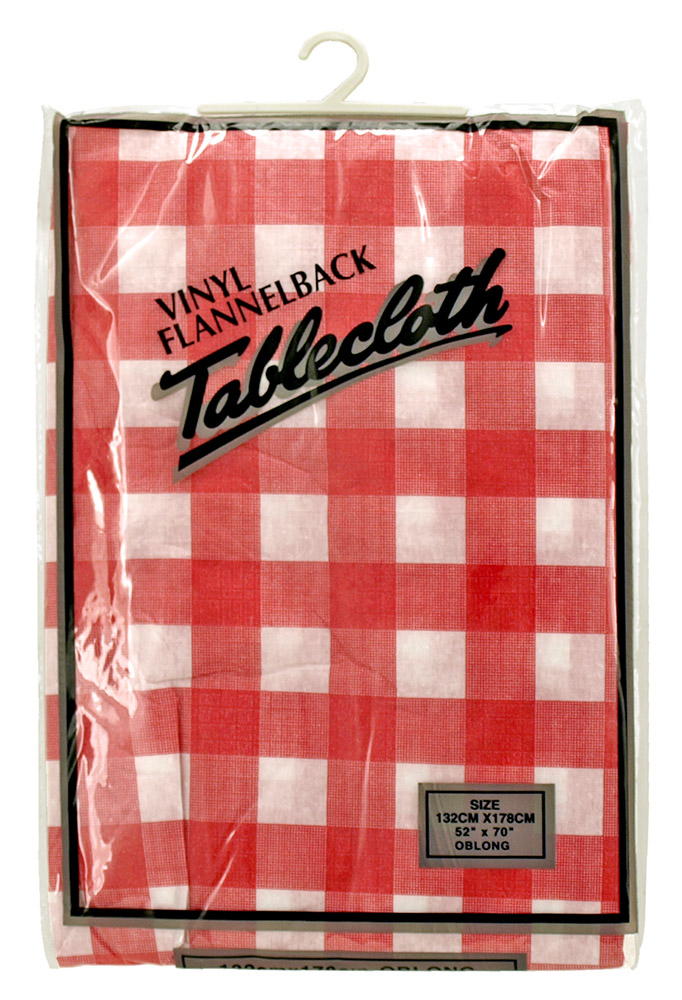 Vinyl Flannelback Table Cloth (Assorted Colors)