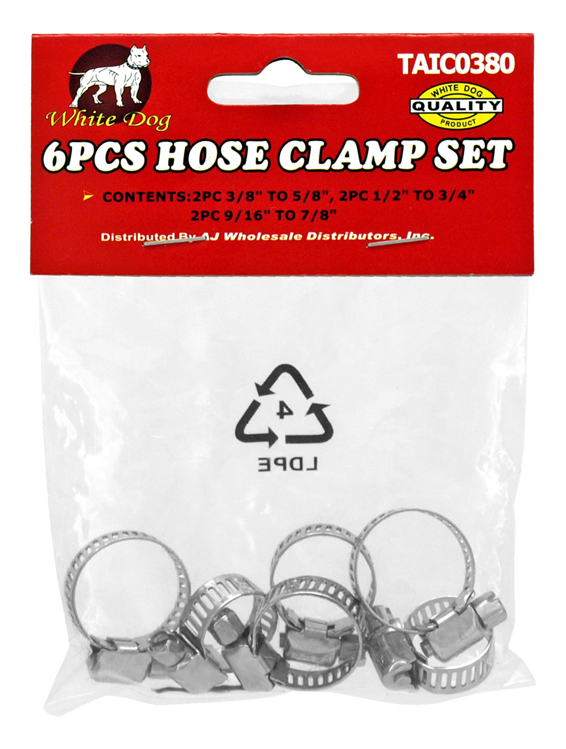 6 - pc. Hose Clamp Set