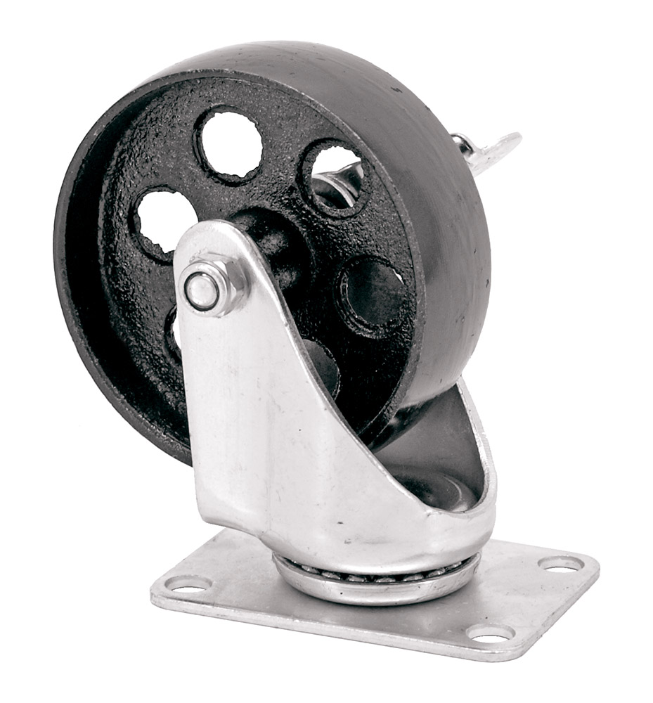 4 in Metal Swivel Caster w/ Lock