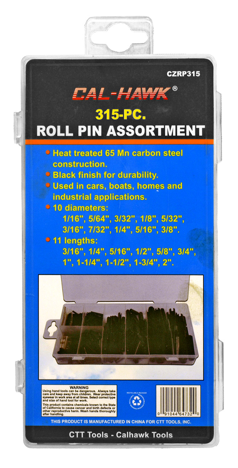 315 - pc. Roll Pin Assortment