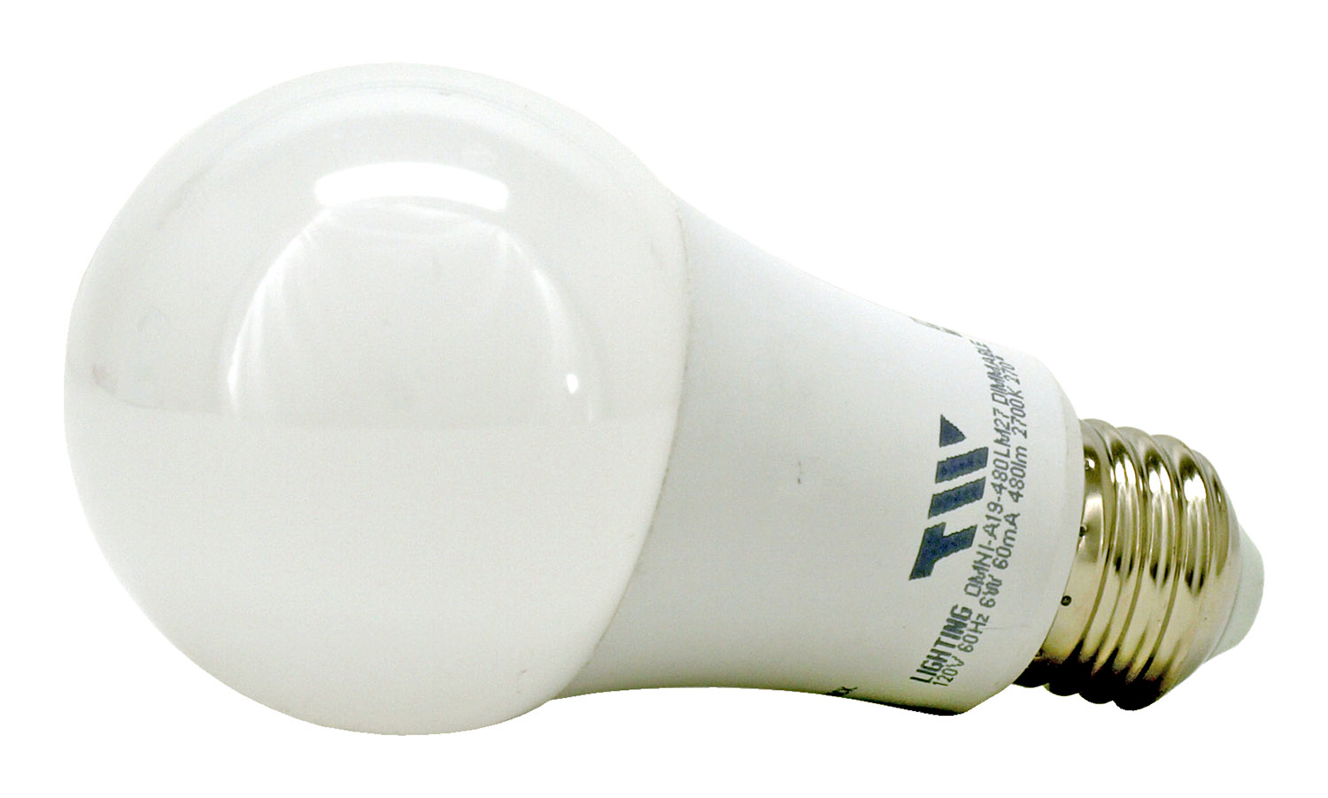 A19 LED Light Bulb - 480 Lumens - 2700k