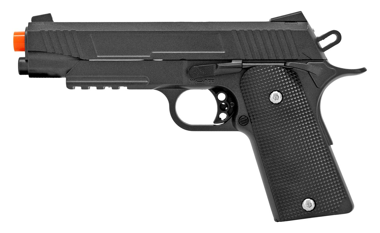 UKArms G38 Spring Powered Metal Airsoft Pistol - Black