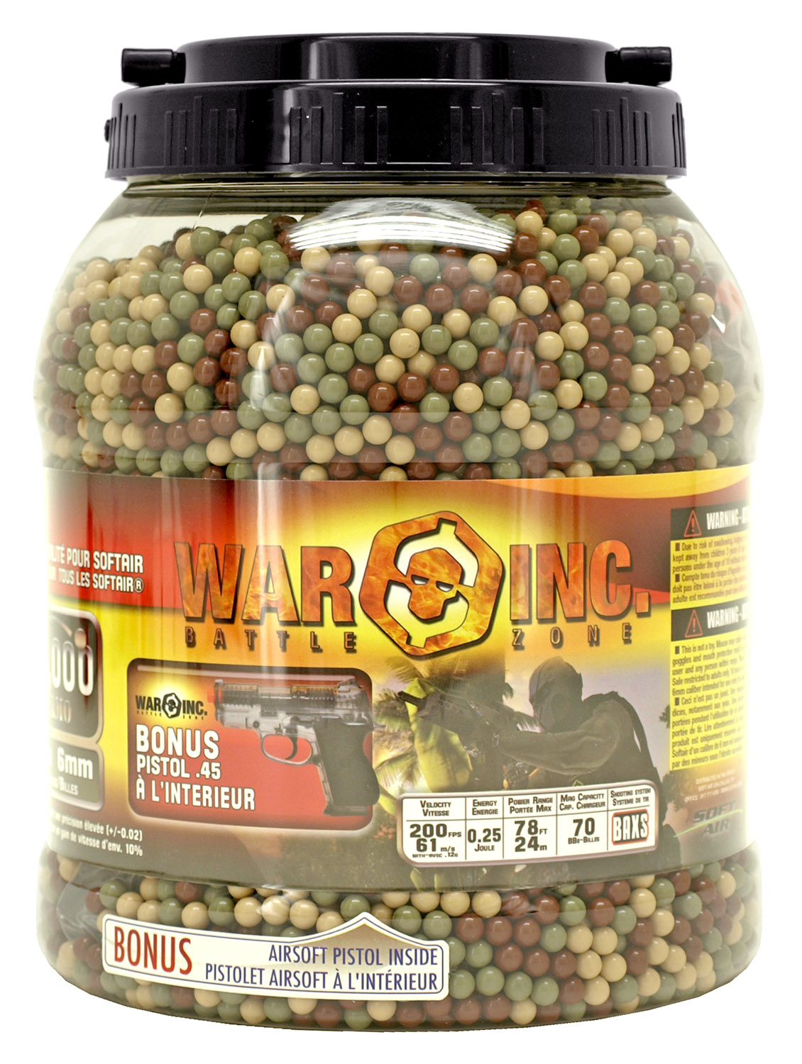 14,000 - pc. War Inc. .12g Premium 6mm Airsoft BB's
