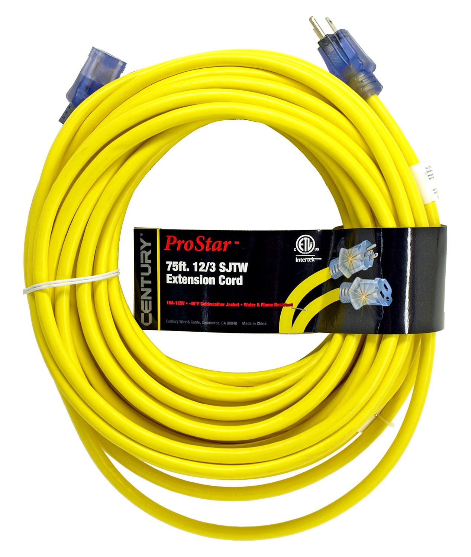 ProStar 75ft. 12/3 SJTW Extension Cord