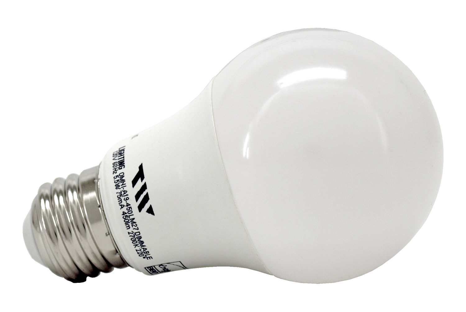 A19 LED Light Bulb - 450 Lumens - 2700k