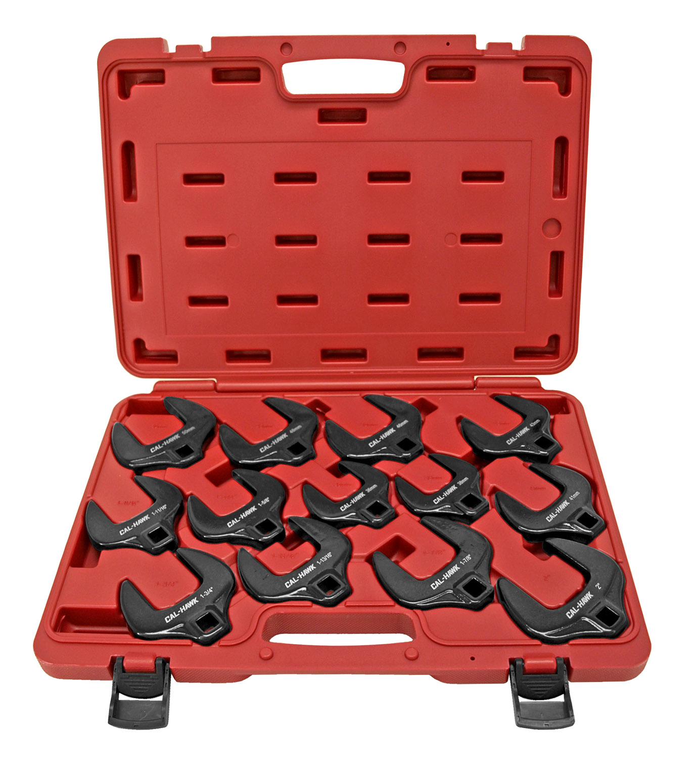 Cal-Hawk 13 - pc. 1/2 in Dr. Jumbo SAE/Metric Crowfoot Set