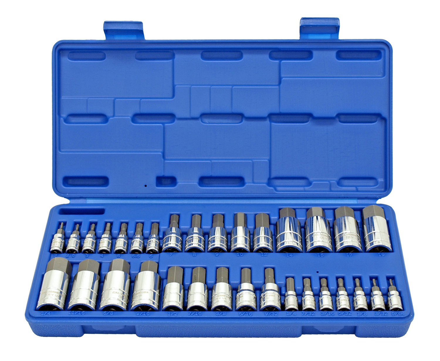Cal-Hawk 32 - pc. Hex Bit Socket Set