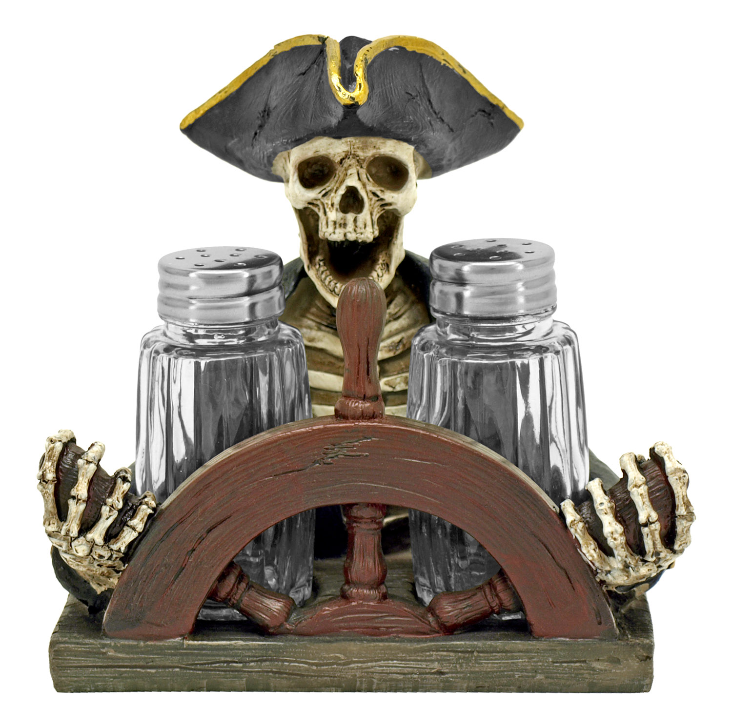 Spice Trader Raider - Pirate Salt and Pepper Shaker Holder