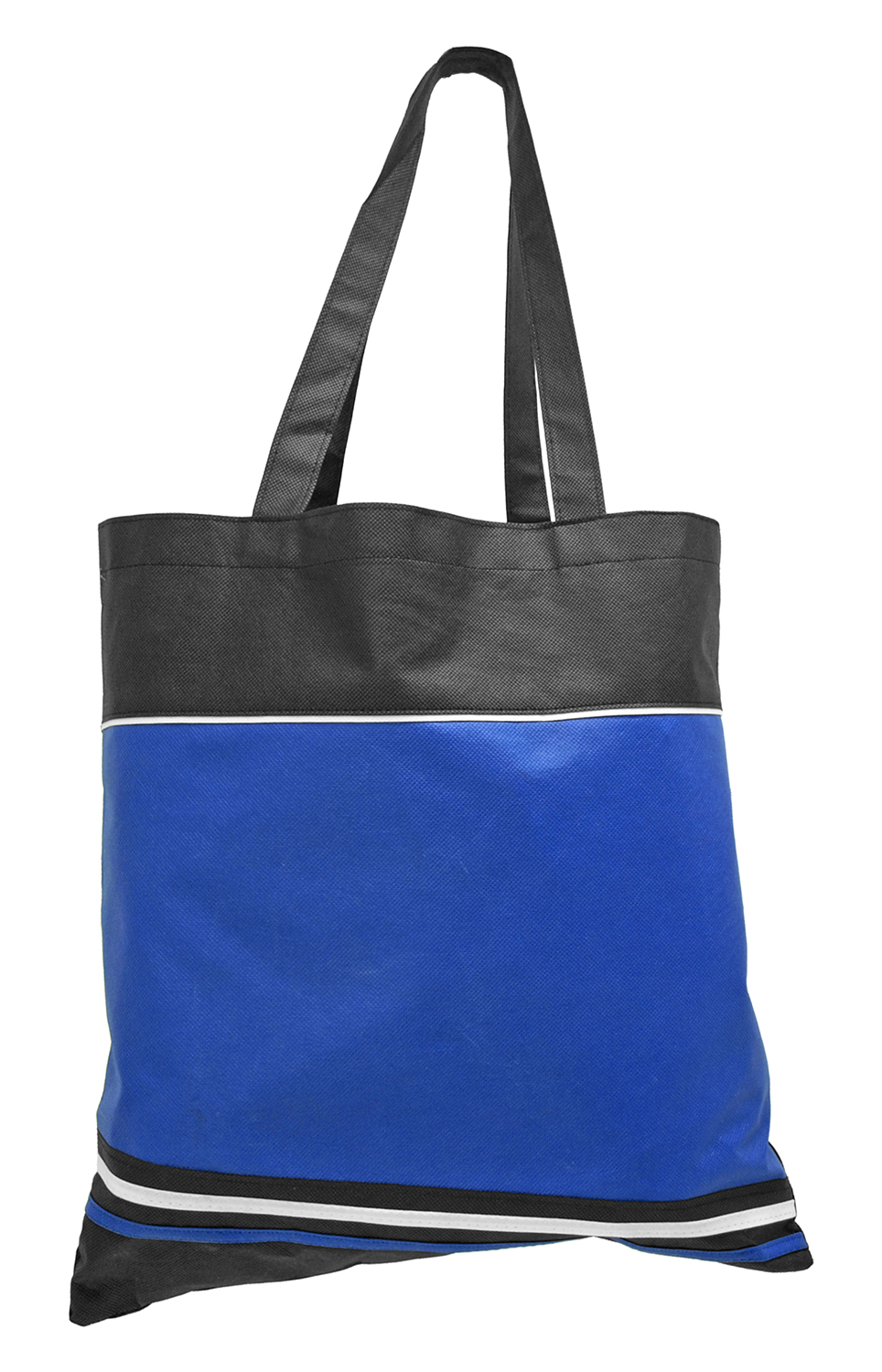 Grocery Shopping Tote Bag - Blue and Black