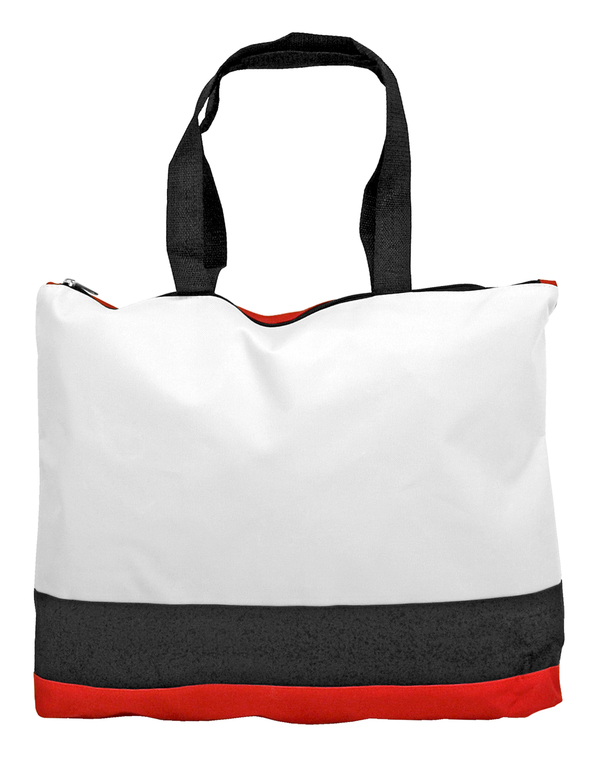 Zippered Grocery Shopping Tote Bag - Assorted Colors