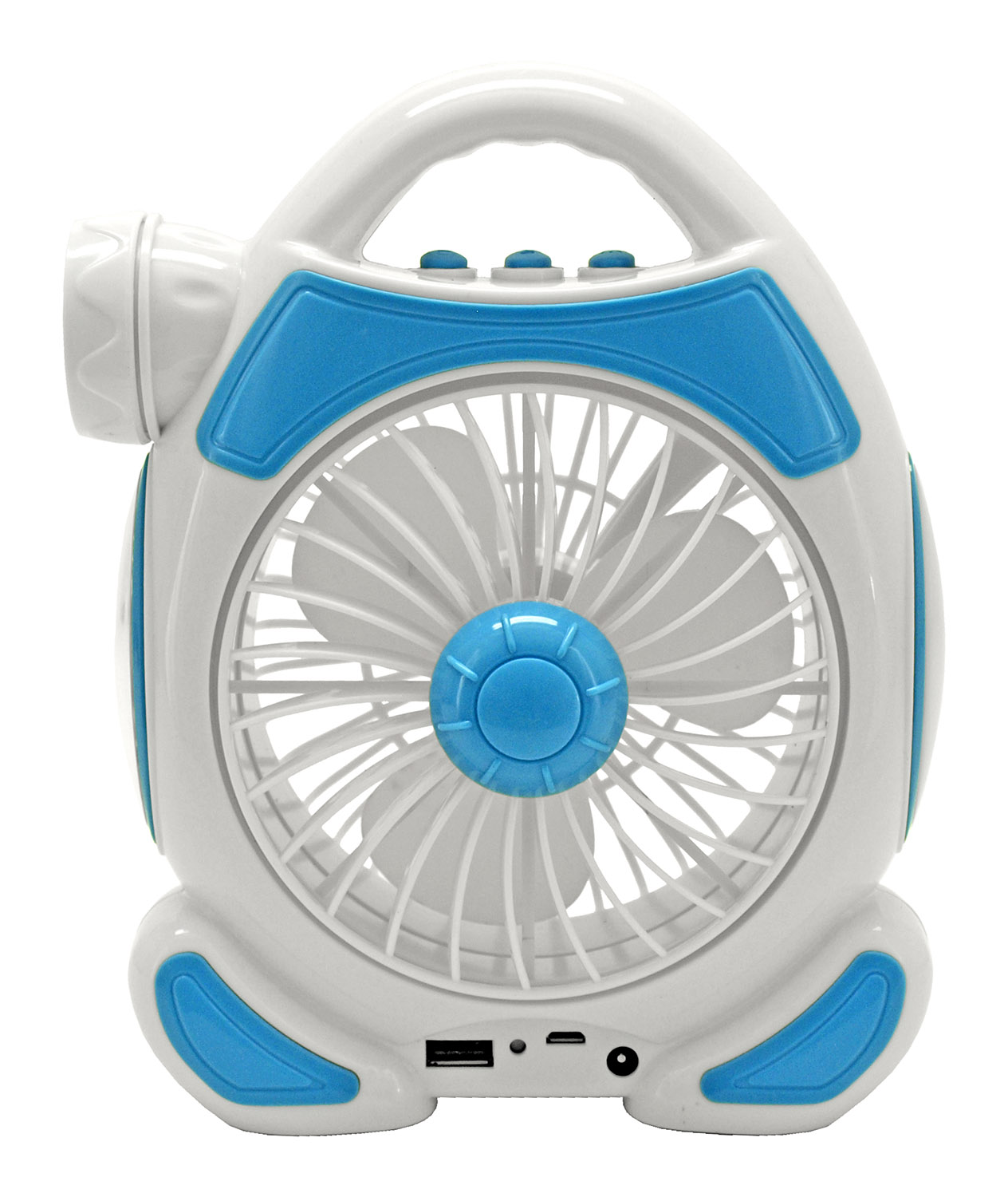 Multifunctional Fan, Lights, and USB Charger - Assorted Colors