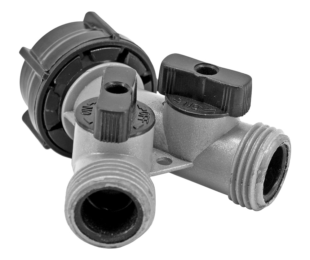 sc 1 st  DP u0026 Company INC & Hose Splitter with 2-Way Flow Water Shut-Off