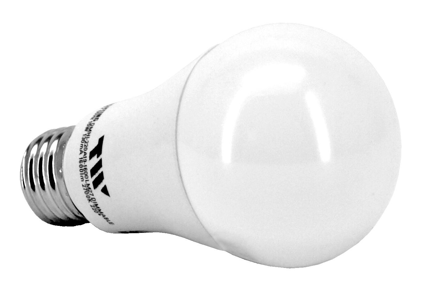 A19 LED Light Bulb - 1600 Lumens - 2700k - TW Lighting