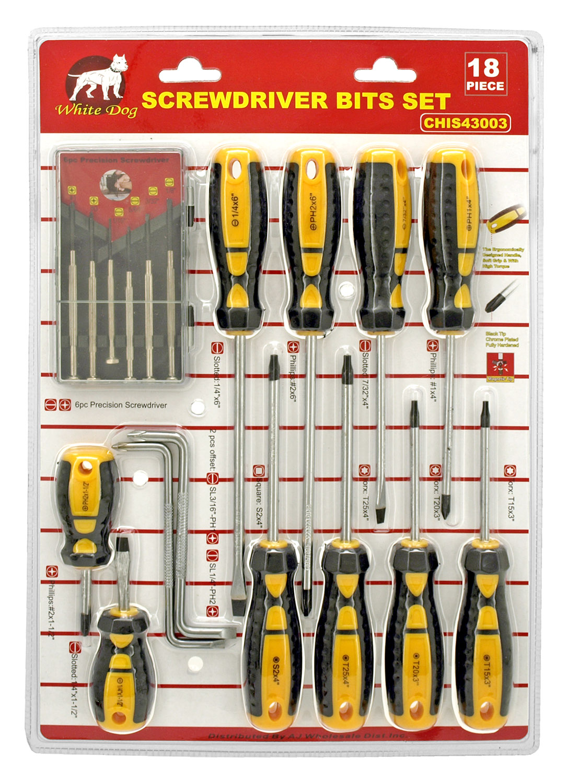 Screwdriver and Precision Screwdriver Set