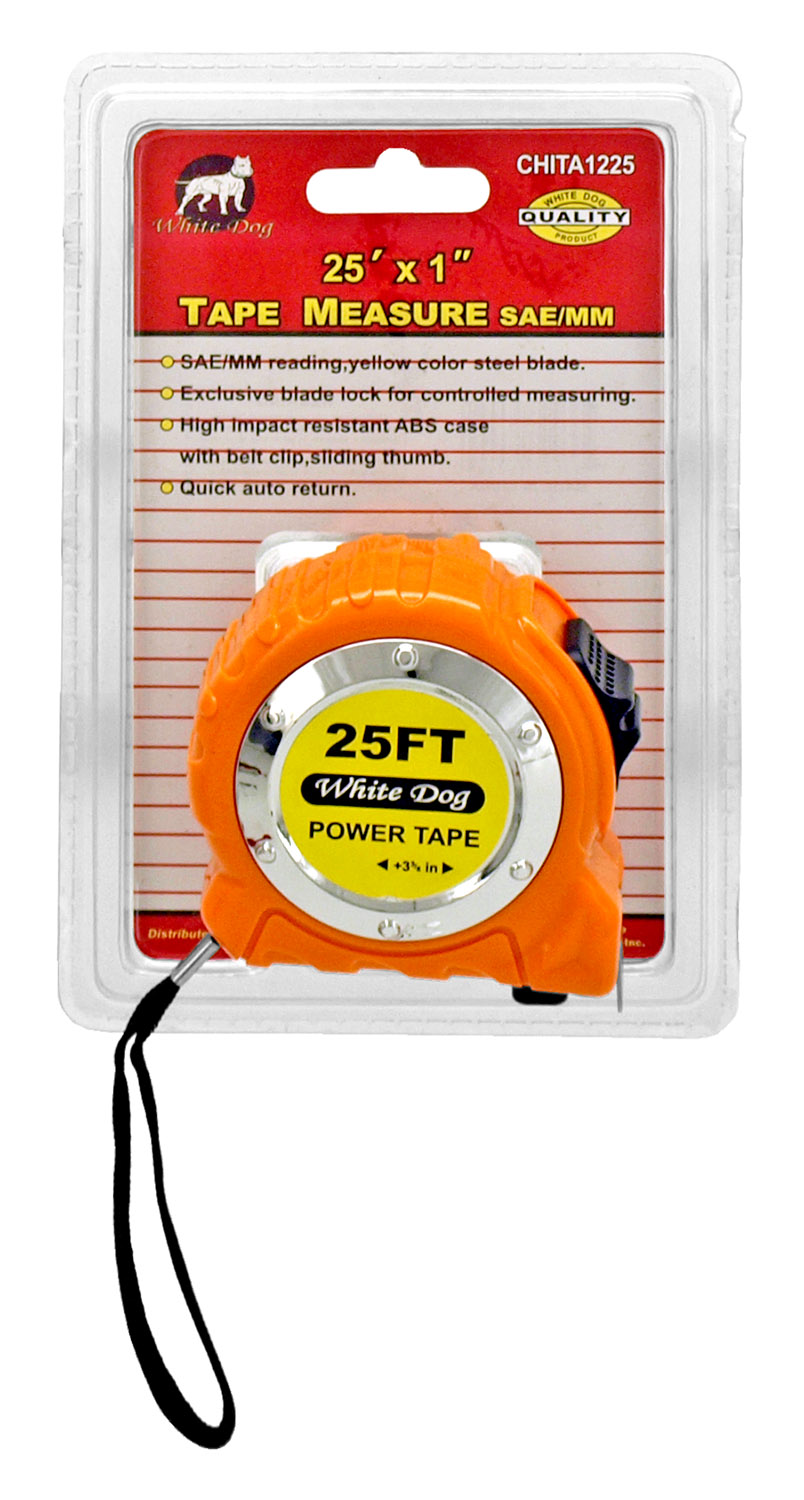 25' x 1 in Tape Measure SAE/MM