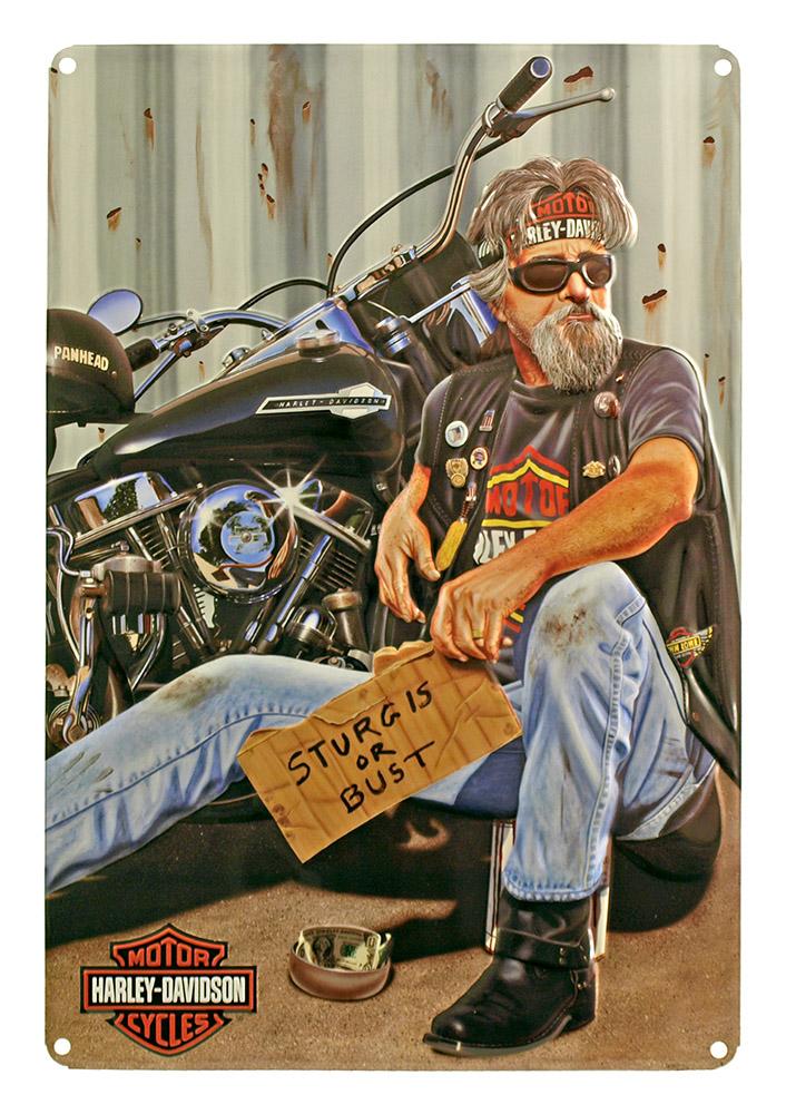 Harley Davidson Pan Handler Tin Sign