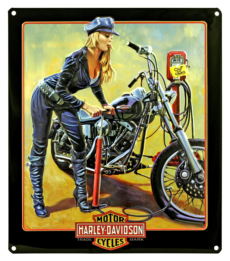 Harley Davidson Queen Tin Sign