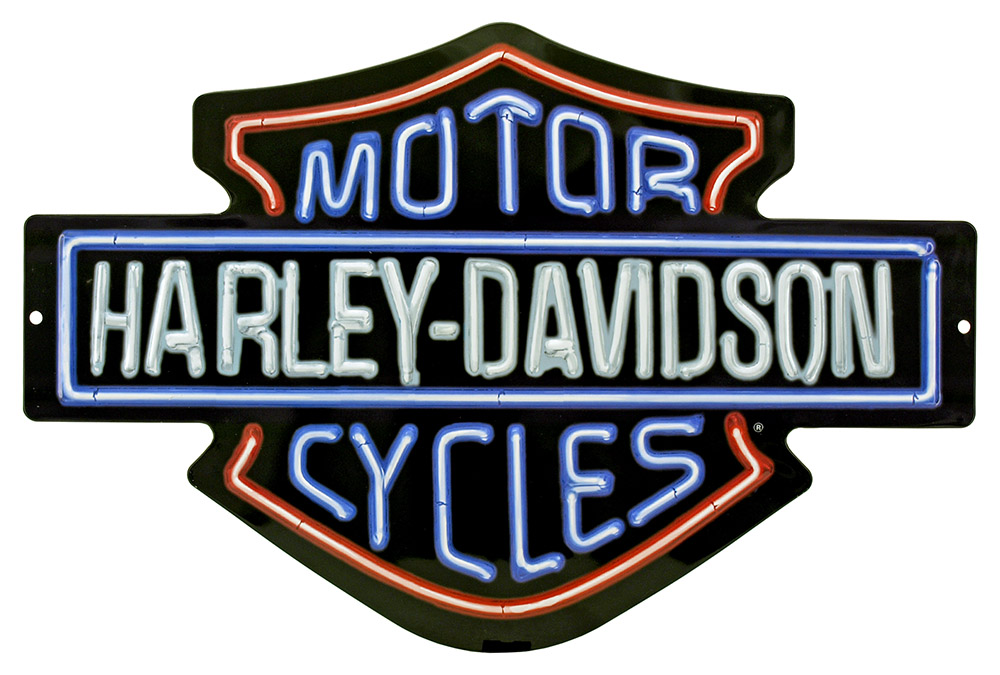 Harley Davidson Neon Lights Tin Sign
