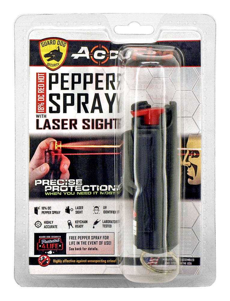 Pepper Spray with Lazer Sight - Black