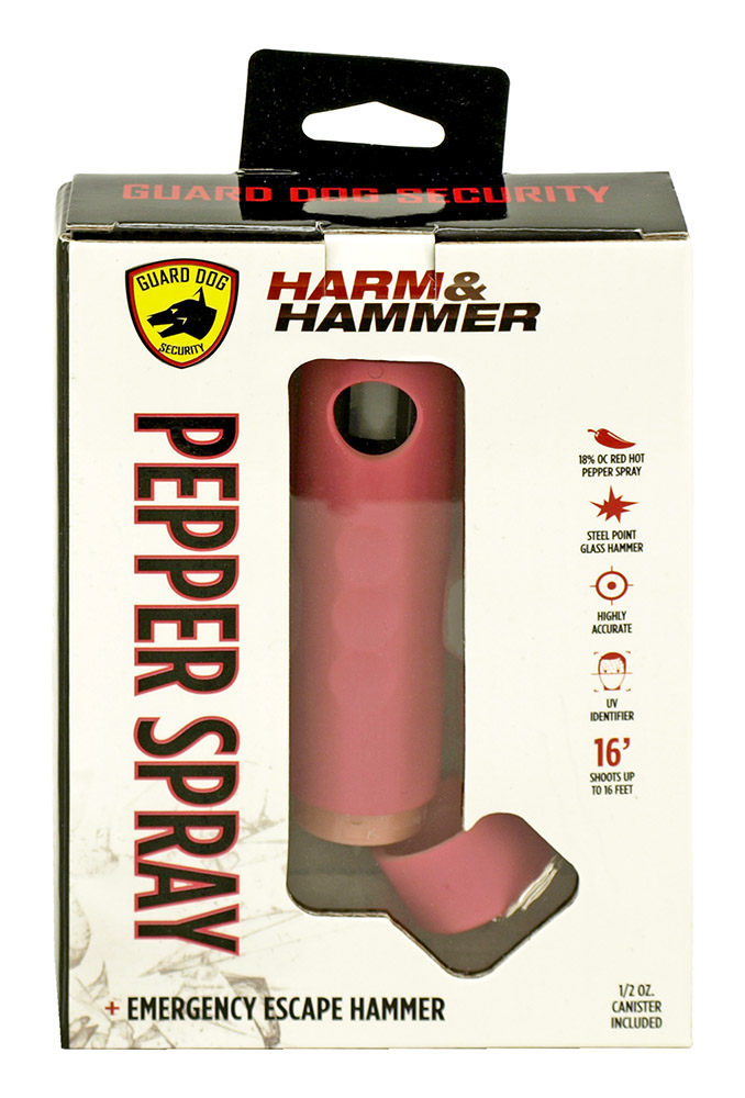 Harm and Hammer Pepper Spray and Glass Breaker - Pink